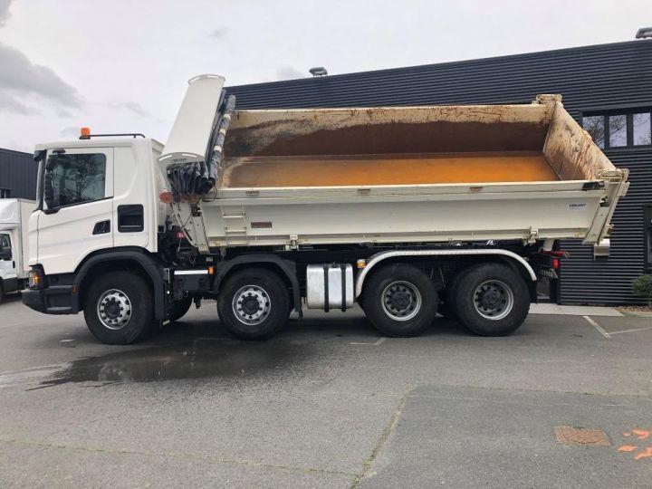 Camion porteur Scania Bibenne / Tribenne 410 8X4 BI BENNE BLANC - 5