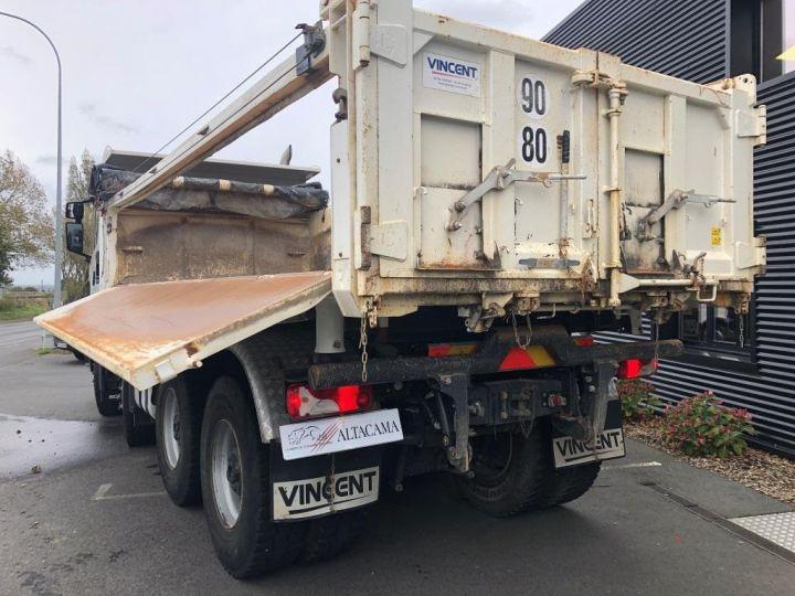 Camion porteur Scania Bibenne / Tribenne 410 8X4 BI BENNE BLANC - 8