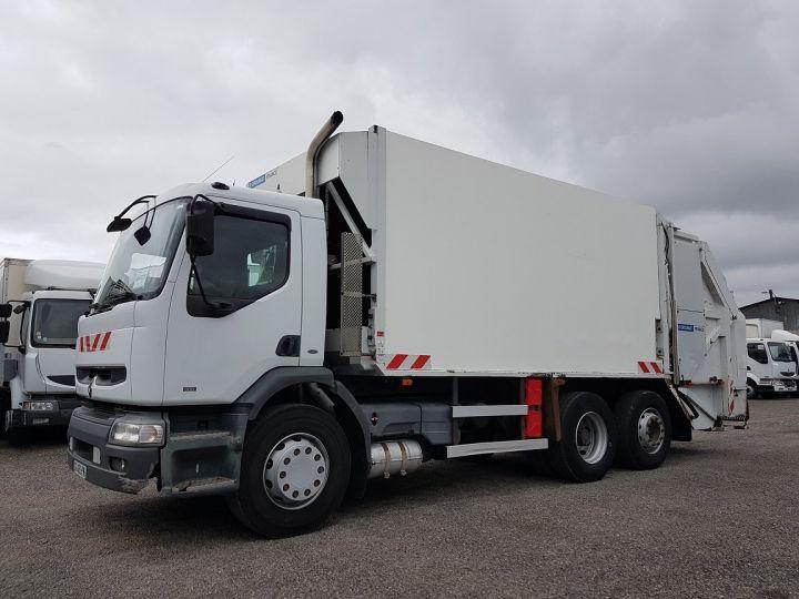 Camion porteur Renault Premium B.O.M 300.26 6x2 BOM euro 2 - BV MANUELLE BLANC - 1