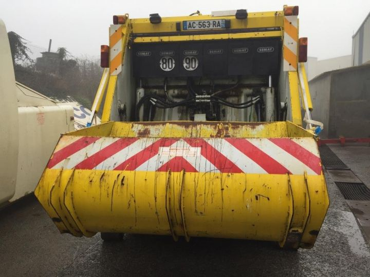 Camion porteur Spitzer B.O.M CAISSON BENNE A ORDURES MENAGERES SEMAT JAUNE - 2