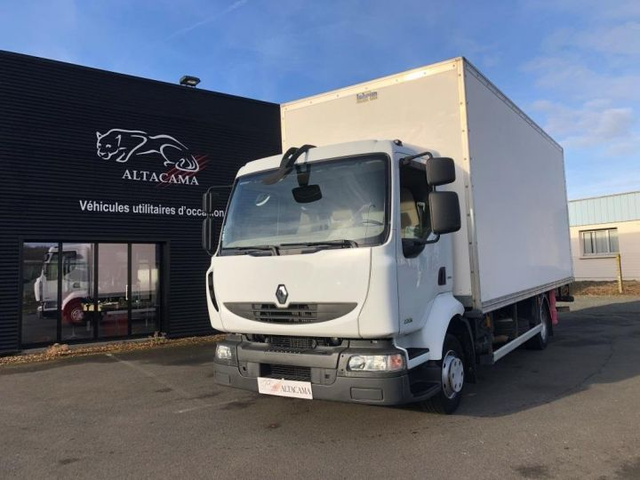 Camion porteur Renault Midlum Caisse fourgon + Hayon élévateur BLANC - 1