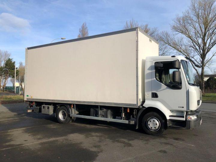 Camion porteur Renault Midlum Caisse fourgon + Hayon élévateur BLANC - 4