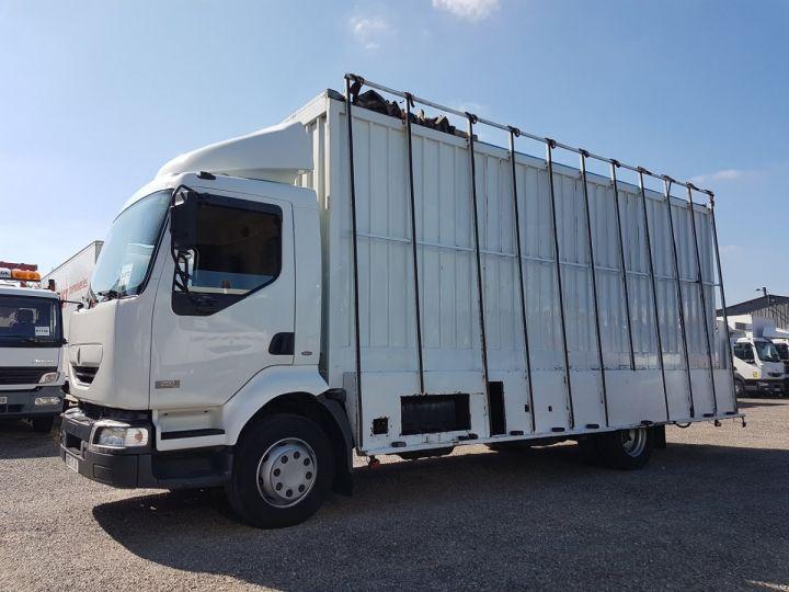 Camion porteur Renault Midlum Caisse fourgon + Hayon élévateur 220dci.13 - Fourgon VITRIER BLANC - 1