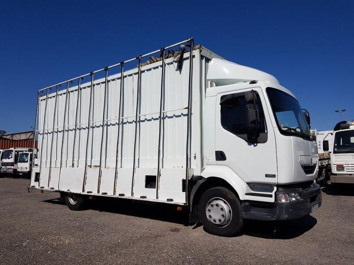 Camion porteur Renault Midlum Caisse fourgon + Hayon élévateur 220dci.13 - Fourgon VITRIER BLANC - 4