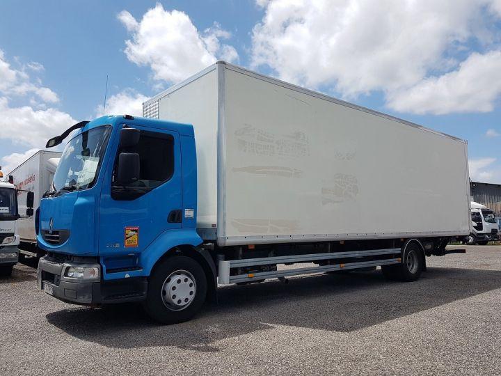 Camion porteur Renault Midlum Caisse fourgon + Hayon élévateur 270dxi.14 Fourgon 8m50 BLANC - BLEU - 1