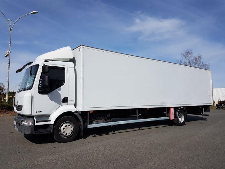 Camion porteur Renault Midlum Caisse fourgon + Hayon élévateur 280dxi.16 - Hayon en panne BLANC Occasion - 1