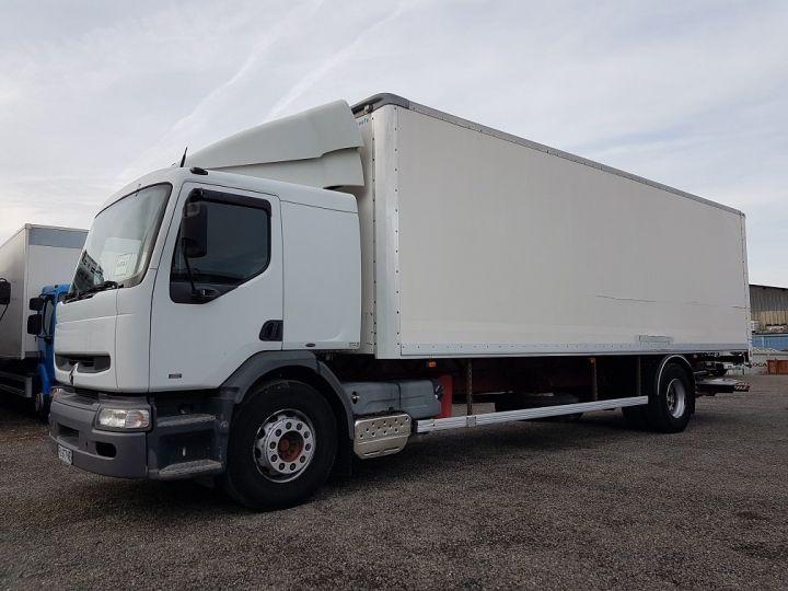 Camion porteur Renault Premium Caisse fourgon + Hayon élévateur 260.19 - LAMES BLANC - 1
