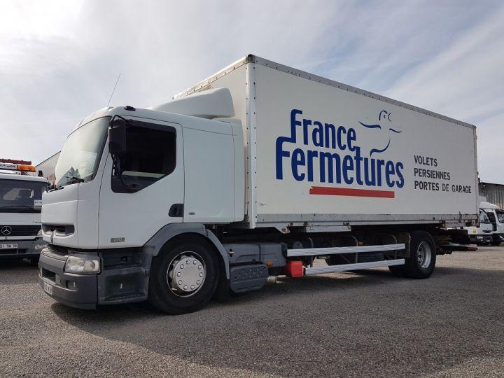 Camion porteur Renault Premium Caisse fourgon + Hayon élévateur 270dci.18D - Pour pièces BLANC - 1
