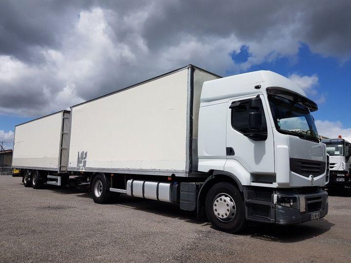 Camion porteur Renault Premium Caisse fourgon + Hayon élévateur 450dxi + SAMRO - COMBI BOX 104m3 BLANC Occasion - 3