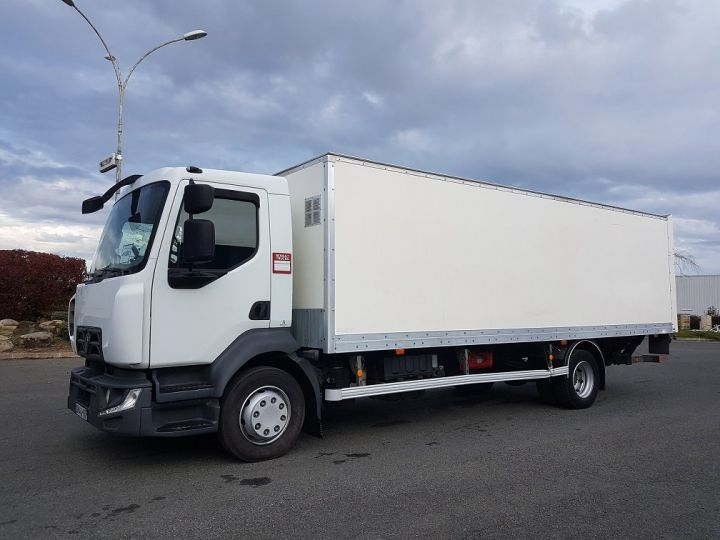 Camion porteur Renault D Caisse fourgon + Hayon élévateur 12.210dti euro 6 BLANC - 1