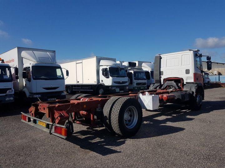 Camion porteur Iveco EuroCargo Chassis cabine 180 E 28 - Boite de vitesse en panne ROUGE - BLANC Occasion - 2