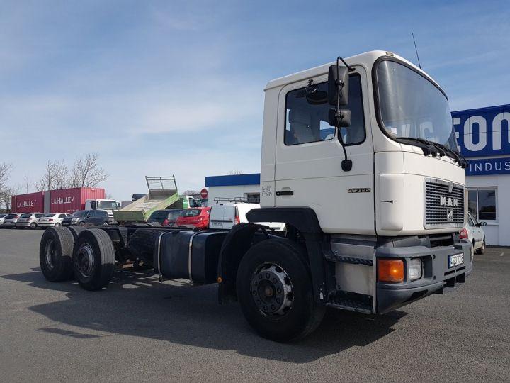 Camion porteur Man 26-322 Chassis cabine 6x2 - Moteur à réviser BLANC Occasion - 3