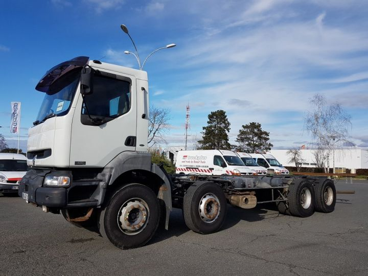 Camion porteur Renault Kerax Chassis cabine 420dci.32 8x4 CHASSIS 8 m. BLANC - 1