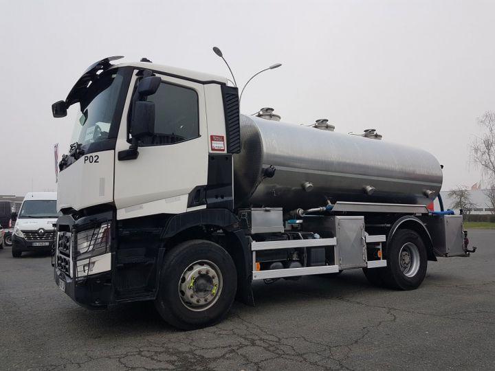 Camion porteur Renault C Citerne alimentaire 430.19 -  BLANC et GRIS - 1