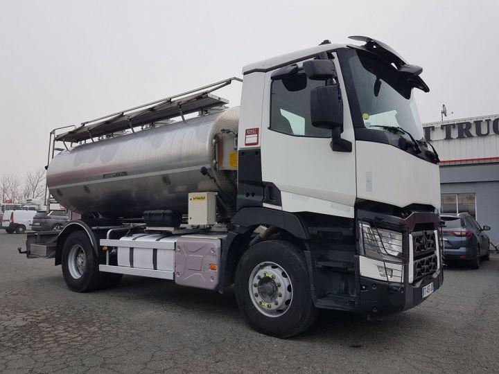 Camion porteur Renault C Citerne alimentaire 430.19 -  BLANC et GRIS - 3
