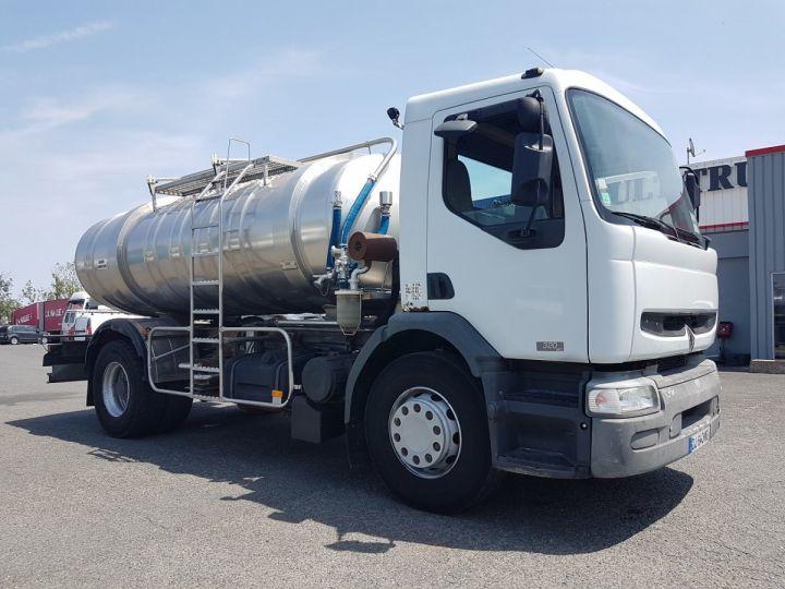 Camion porteur Renault Premium Citerne alimentaire 320dci.19D - 11000 litres INOX BLANC - GRIS Occasion - 3