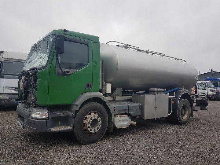 Camion porteur Renault Premium Citerne alimentaire 370dci.19D - Cabine accidentée VERT - GRIS - 1