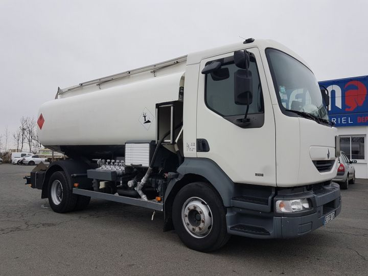 Camion porteur Renault Midlum Citerne hydrocarbures 210.16 BLANC Occasion - 3