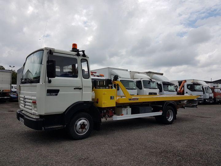 Camion porteur Renault Midliner Dépanneuse S120.07/A porte-voiture FIAULT + treuil BLANC - JAUNE - 1