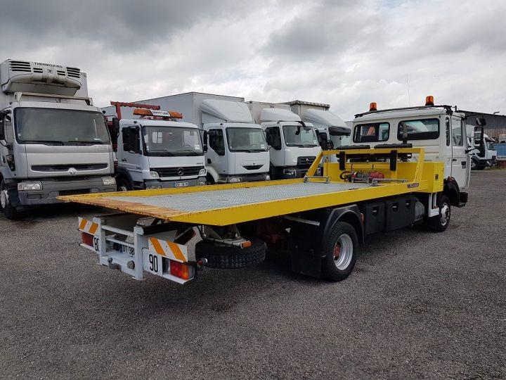 Camion porteur Renault Midliner Dépanneuse S120.07/A porte-voiture FIAULT + treuil BLANC - JAUNE - 2