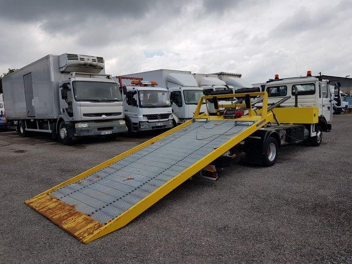 Camion porteur Renault Midliner Dépanneuse S120.07/A porte-voiture FIAULT + treuil BLANC - JAUNE - 4