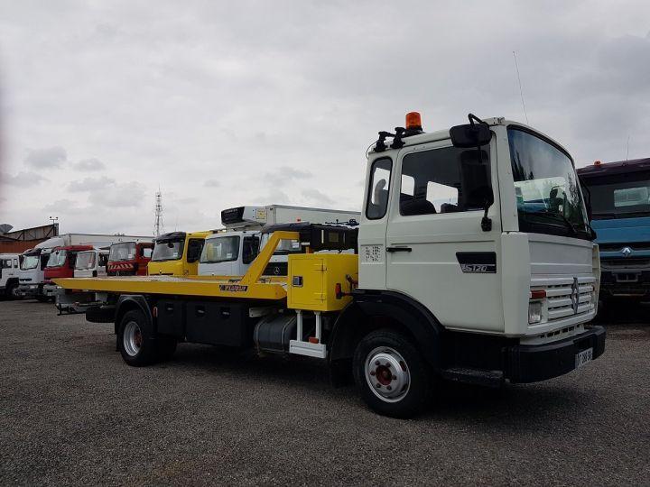 Camion porteur Renault Midliner Dépanneuse S120.07/A porte-voiture FIAULT + treuil BLANC - JAUNE - 6