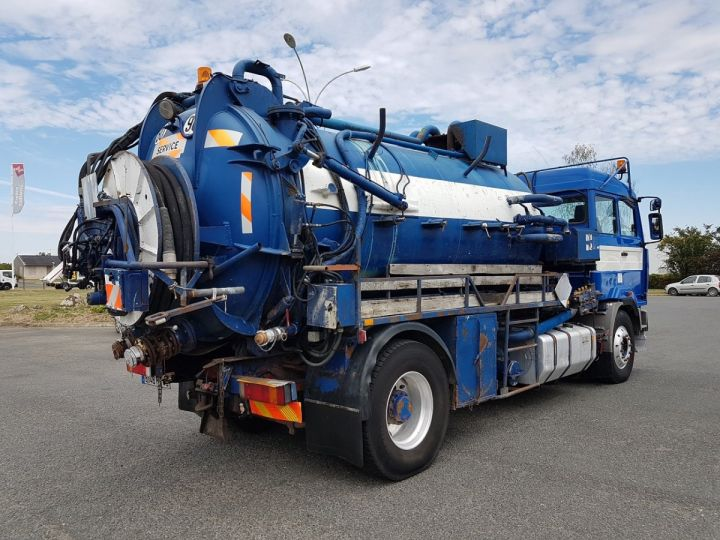 Camion porteur Renault Manager Hydrocureur G340ti.19 BLEU et BLANC - 2