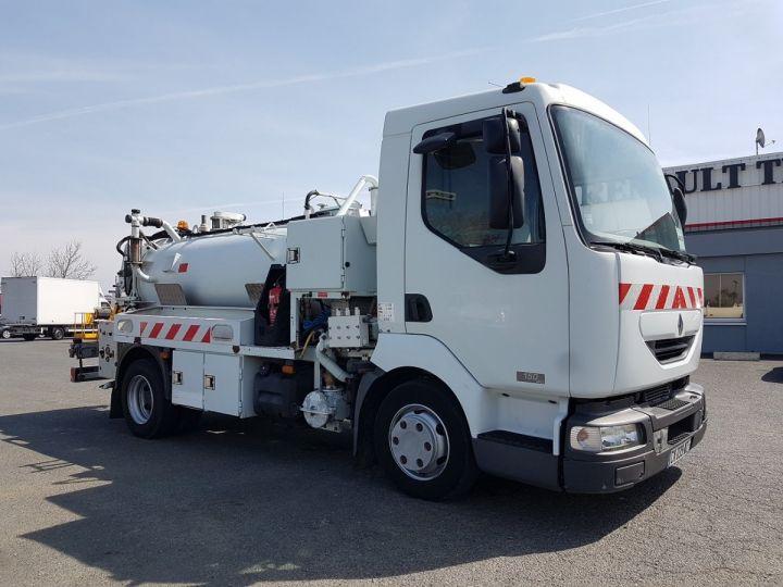 Camion porteur Renault Midlum Hydrocureur 150dci.08/B HUWER 4m3 BLANC Occasion - 3
