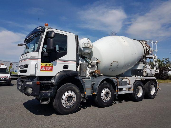 Camion porteur Iveco Trakker Malaxeur 410 8x4 - IMER 8.5m3 BLANC - 1