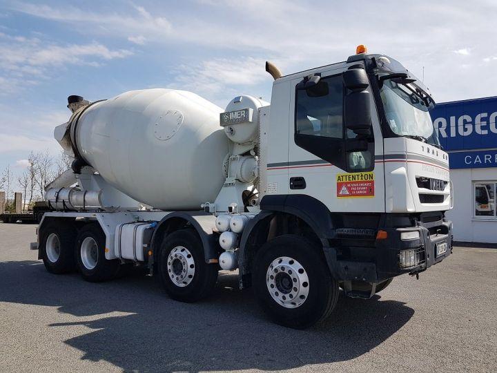 Camion porteur Iveco Trakker Malaxeur 410 8x4 - IMER 8.5m3 BLANC - 3