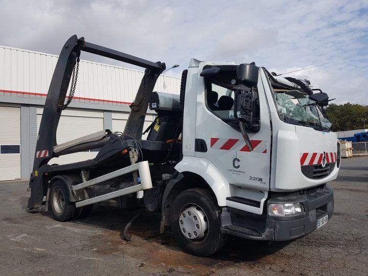 Camion porteur Renault Midlum Multibenne 220dxi.16 - Accidenté BLANC Occasion - 3