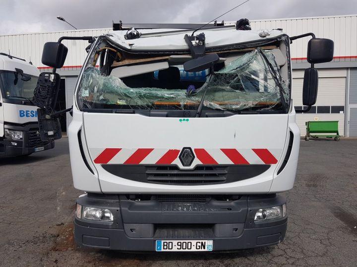 Camion porteur Renault Midlum Multibenne 220dxi.16 - Accidenté BLANC Occasion - 11