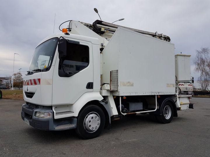 Camion porteur Renault Midlum Nacelle élévatrice 180.13C EGI 17 m. BLANC Occasion - 1