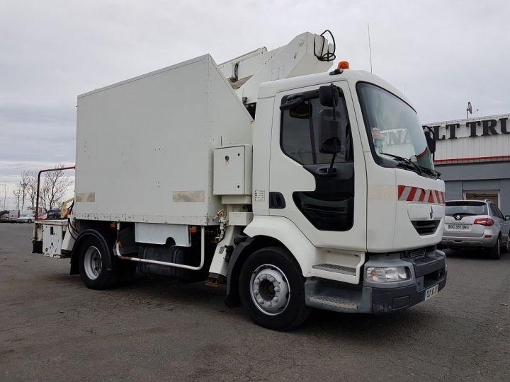 Camion porteur Renault Midlum Nacelle élévatrice 180.13C EGI 17 m. BLANC Occasion - 4