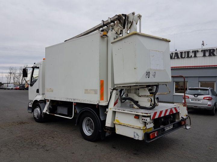Camion porteur Renault Midlum Nacelle élévatrice 180.13C EGI 17 m. BLANC Occasion - 5