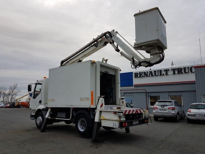Camion porteur Renault Midlum Nacelle élévatrice 180.13C EGI 17 m. BLANC Occasion - 6