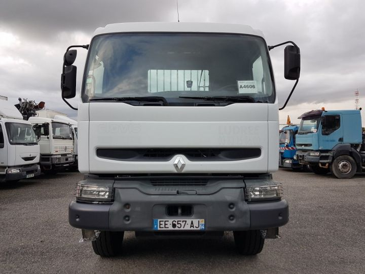 Camion porteur Renault Kerax Plateau + grue 370dci.26 6x4 + HIAB 195.3 BLANC Occasion - 12
