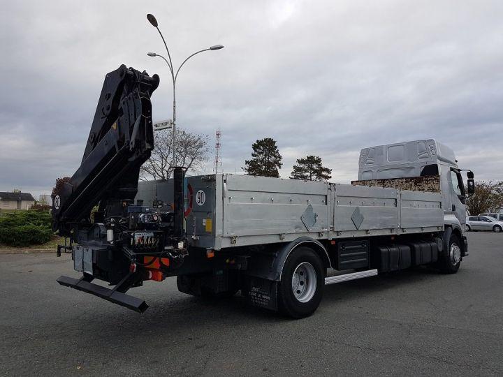 Camion porteur Renault Premium Plateau + grue 400.19 euro 2 + HIAB 129.3 GRIS - 2