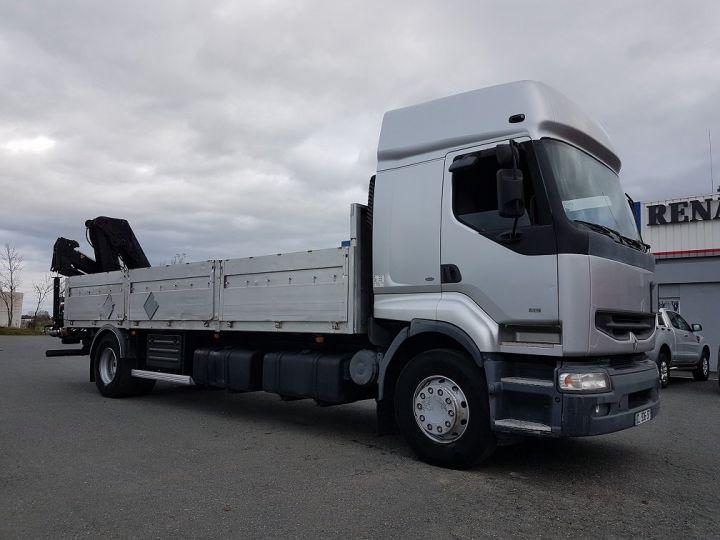 Camion porteur Renault Premium Plateau + grue 400.19 euro 2 + HIAB 129.3 GRIS - 6