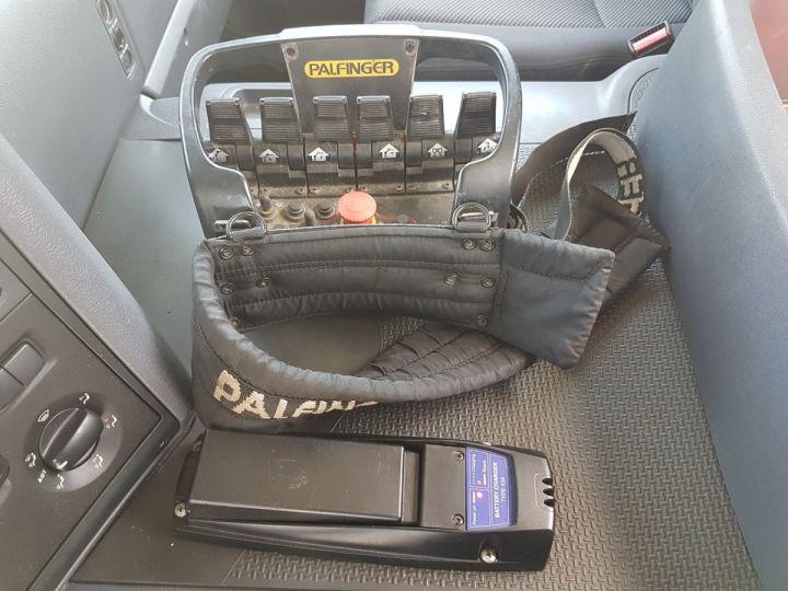 Camion porteur Scania P Plateau + grue 340 CB 6x4 + PALFINGER PK18500 BLANC - 9