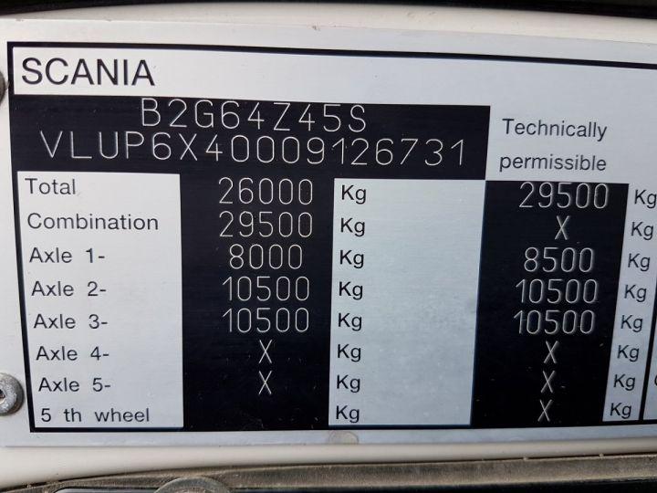 Camion porteur Scania P Plateau + grue 340 CB 6x4 + PALFINGER PK18500 BLANC - 20