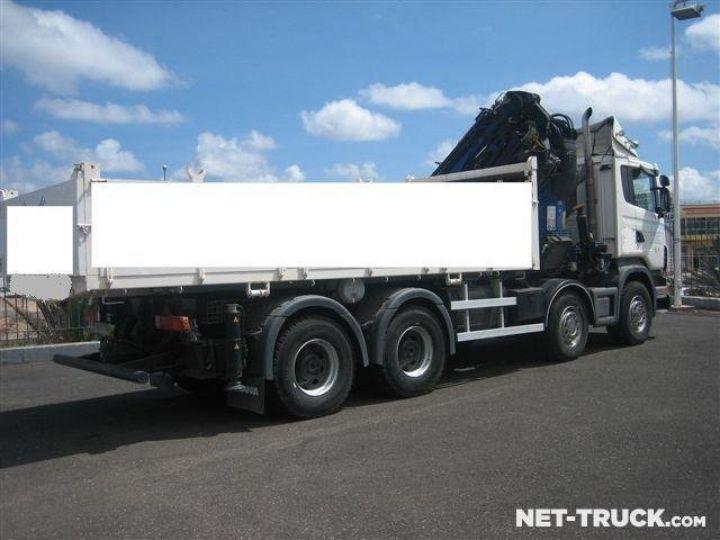 Camion porteur Scania R470 8x4 Plateau + grue  - 2