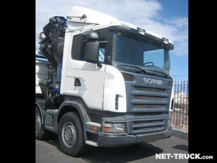 Camion porteur Scania R470 8x4 Plateau + grue  - 3