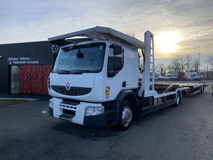 Camion porteur Renault Premium Plateau porte voiture  REMORQUE LOHR gris - 2