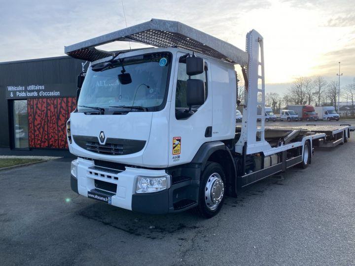 Camion porteur Renault Premium Plateau porte voiture  REMORQUE LOHR gris - 4