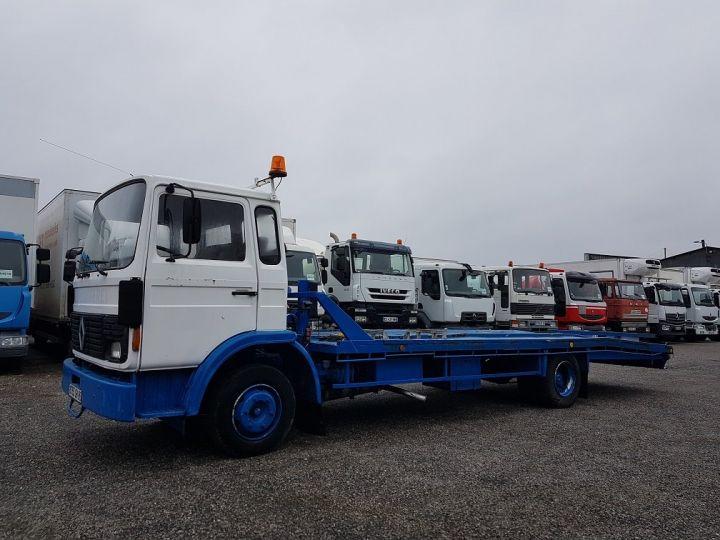 Camion porteur Renault S Plateau porte voiture 130.09 A - PORTE VOITURE / MATERIEL BLANC et BLEU - 1
