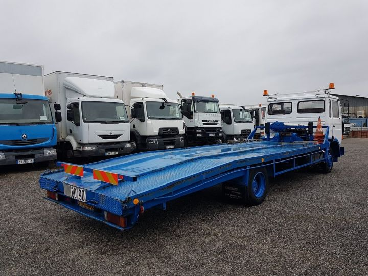 Camion porteur Renault S Plateau porte voiture 130.09 A - PORTE VOITURE / MATERIEL BLANC et BLEU - 2