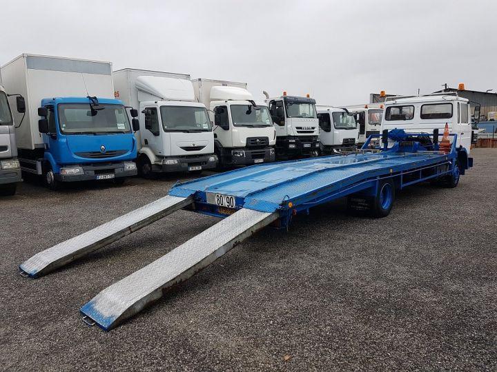 Camion porteur Renault S Plateau porte voiture 130.09 A - PORTE VOITURE / MATERIEL BLANC et BLEU - 3