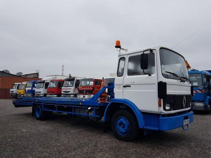Camion porteur Renault S Plateau porte voiture 130.09 A - PORTE VOITURE / MATERIEL BLANC et BLEU - 4