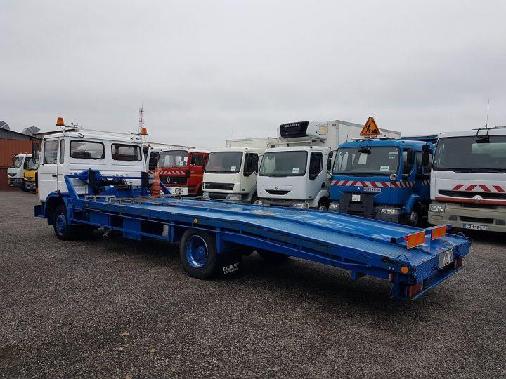 Camion porteur Renault S Plateau porte voiture 130.09 A - PORTE VOITURE / MATERIEL BLANC et BLEU - 5